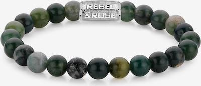 Rebel & Rose Armband in grün / silber, Produktansicht