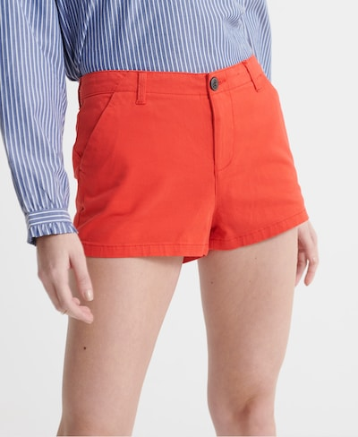 Superdry Chino Shorts in apfel / hellrot, Modelansicht