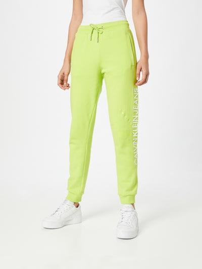 neonzöld / fehér Calvin Klein Jeans Nadrág, Modell nézet