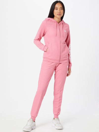 ADIDAS PERFORMANCE Tracksuit in Dusky pink / White: Frontal view