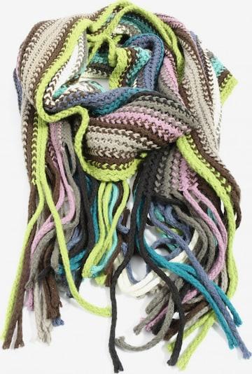 ESPRIT Häkelschal in One Size in braun / grün / pink, Produktansicht