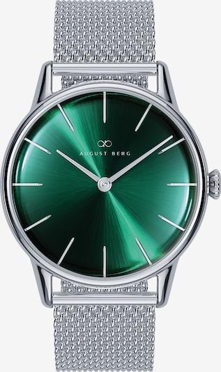 August Berg Analoog horloge in de kleur Groen / Zilver, Productweergave