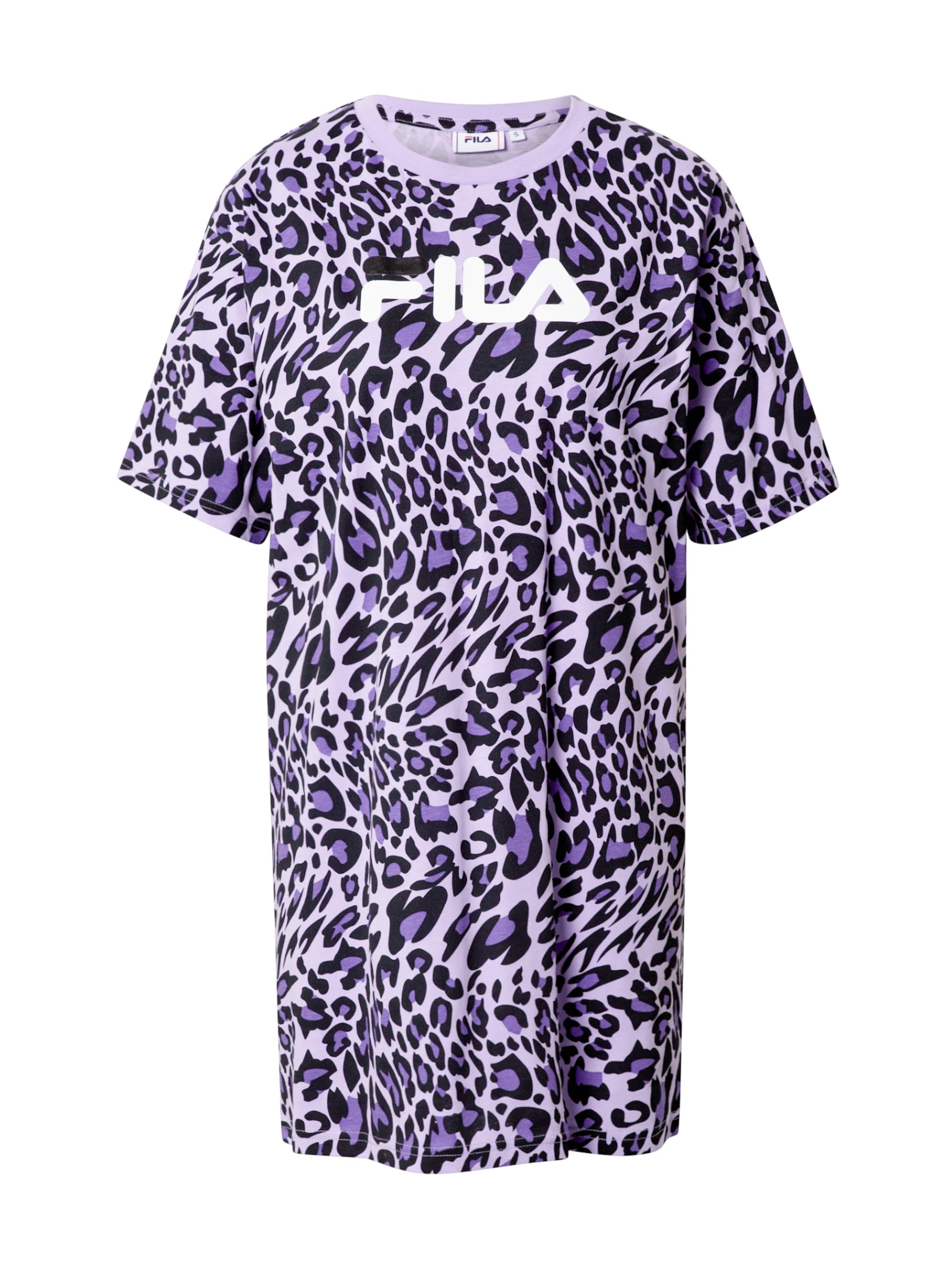 FILA Kleid 'Satinka' in lila / schwarz