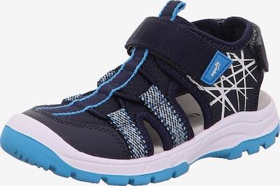 SUPERFIT Chaussures ouvertes 'Tornado' en bleu marine / bleu roi / blanc, Vue avec produit