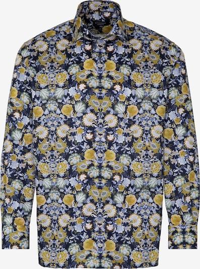 ETERNA Zakelijk overhemd in de kleur Blauw / Geel / Wit, Productweergave