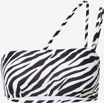 hunkemöller x NA-KD Bikiinitopp 'Zebra', värv valge
