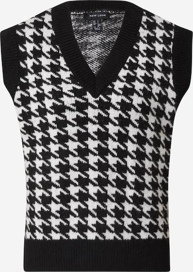 Pulover NEW LOOK pe negru / alb, Vizualizare produs
