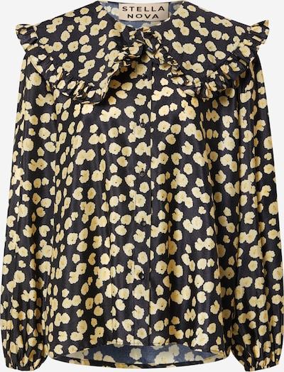 Stella Nova Bluse 'Tiggi' in beige / gelb / schwarz, Produktansicht