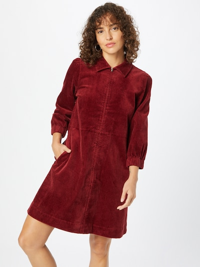 Rochie tip bluză 'Eyvor' Part Two pe roşu închis, Vizualizare model