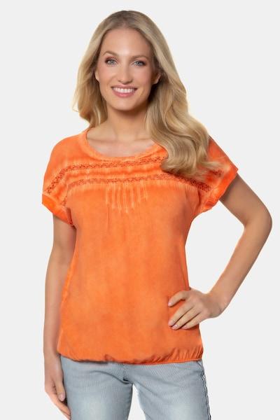 Gina Laura Bluse in orange, Modelansicht