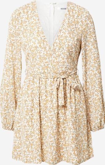 Missguided Kleid in goldgelb / grasgrün / weiß, Produktansicht
