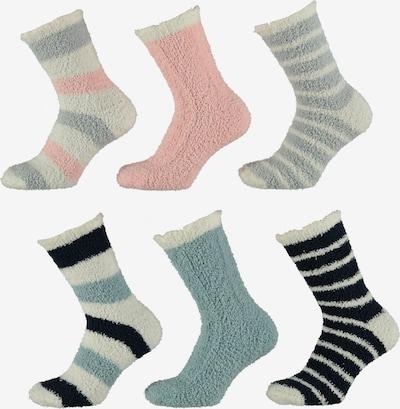 Apollo Socken in hellblau / rosa / schwarz, Produktansicht