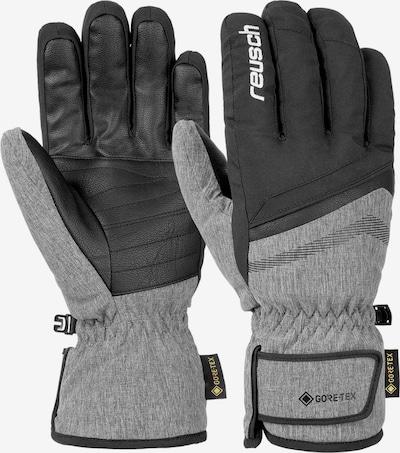 REUSCH Fingerhandschuhe 'Frank GTX' in grau / schwarz, Produktansicht