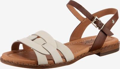 PIKOLINOS Sandalen 'Algar' in braun / weiß, Produktansicht