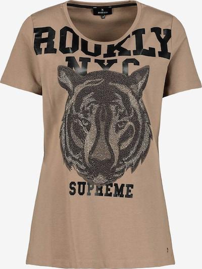 monari Shirt in hellbraun / schwarz, Produktansicht