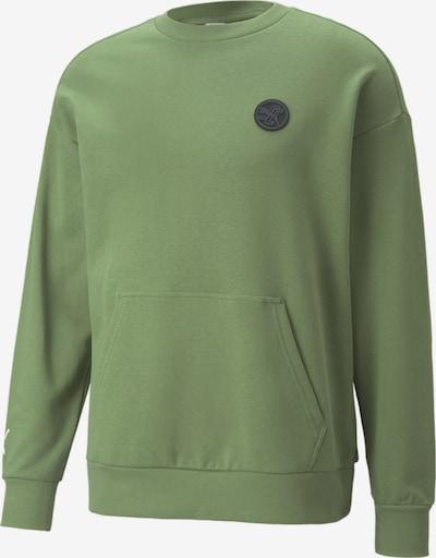 PUMA Athletic Sweatshirt in Green, Item view