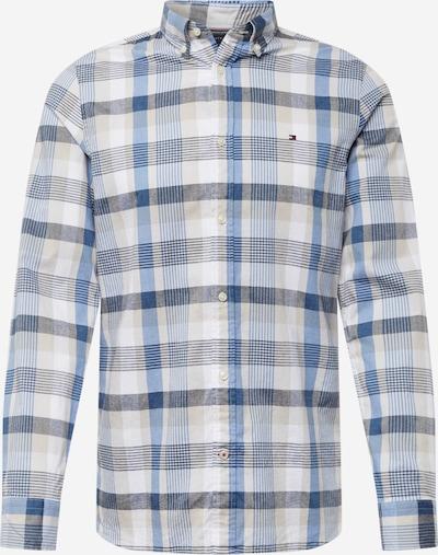 TOMMY HILFIGER Hemd in beige / nachtblau / royalblau / weiß, Produktansicht