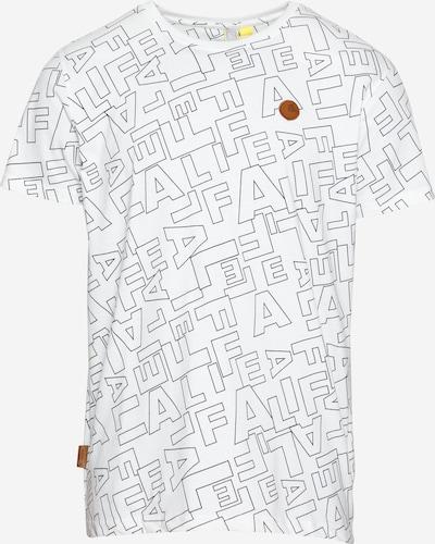 Tricou 'Nic' Alife and Kickin pe negru / alb, Vizualizare produs