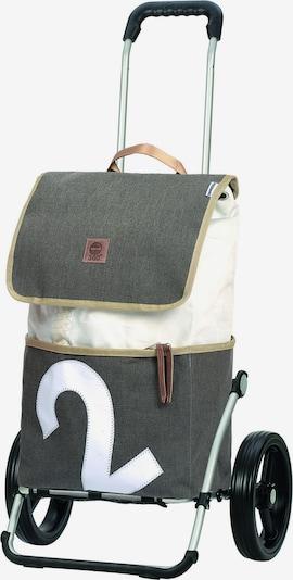 Andersen Shopper Einkaufstrolley in grau / weiß, Produktansicht