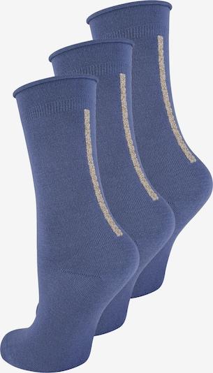 ELBEO Damensocken ' 3-Pack Straight Elegance ' in beige / blau, Produktansicht