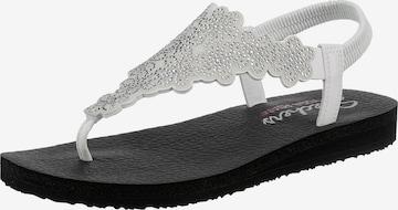 SKECHERS T-Bar Sandals in White