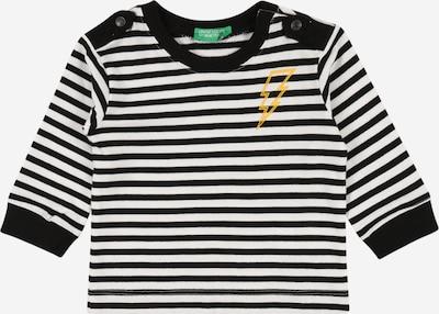 UNITED COLORS OF BENETTON T-Shirt in schwarz / weiß, Produktansicht
