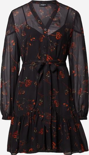 The Kooples Kleid in orangerot / schwarz, Produktansicht