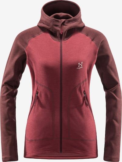 Haglöfs Functionele fleece jas 'Heron' in de kleur Bourgogne, Productweergave