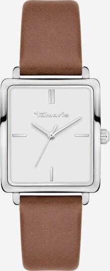 TAMARIS Montre à affichage analogique en marron / argent / blanc, Vue avec produit