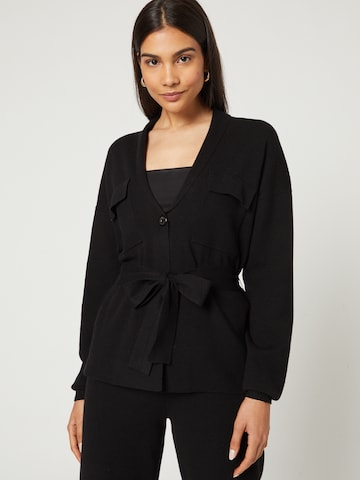 Guido Maria Kretschmer Collection Knit Cardigan 'Meline' in Black