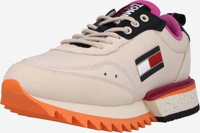 Sneaker low Tommy Jeans pe roz / roz pudră / roșu / negru / alb, Vizualizare produs
