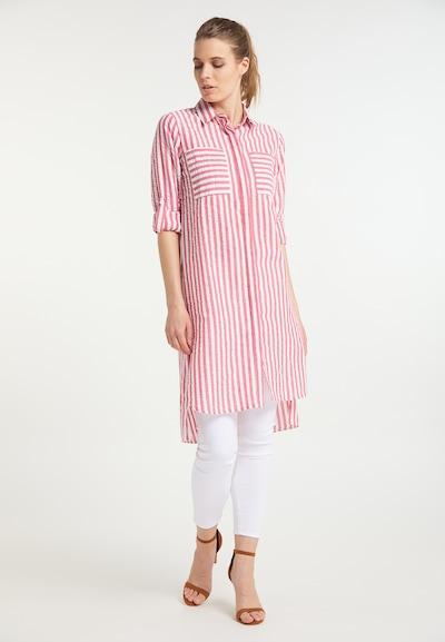 DreiMaster Maritim Kleid in pitaya / weiß, Modelansicht
