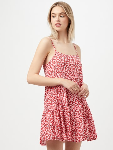 American Eagle Kleid 'KELSEY STRAPPY BABYBOLL' in Rot