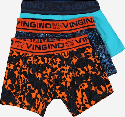 VINGINO Alushousut 'Jungle' värissä taivaansininen / tummansininen / oranssi, Tuotenäkymä