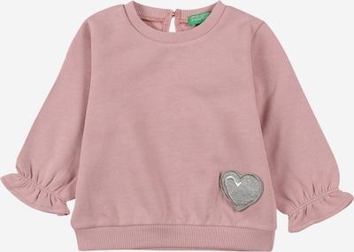 UNITED COLORS OF BENETTON Sweat-shirt en gris chiné / rose ancienne, Vue avec produit