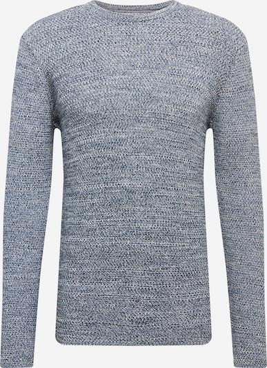 Megztinis iš Kronstadt , spalva - indigo spalva / balta: Vaizdas iš priekio