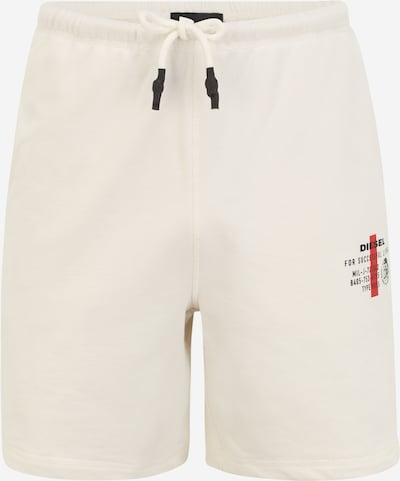 DIESEL Панталон 'UMLB-EDDY' в червено / черно / бяло: Изглед отпред