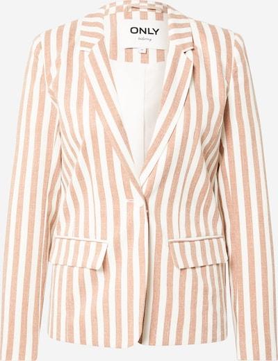 ONLY Blazer 'NICO-EVETTE' | svetlo rjava / bela barva, Prikaz izdelka