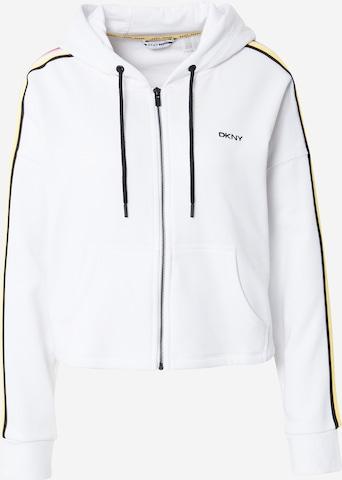 DKNY Performance Athletic Zip-Up Hoodie in White