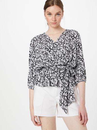 Lauren Ralph Lauren Bluse  'SHIANETA' in schwarz / weiß, Modelansicht