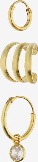 Six Set aus Creole und Earcuff in gold, Produktansicht