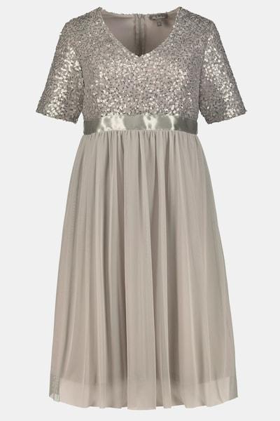 Ulla Popken Abendkleid in hellgrau, Produktansicht