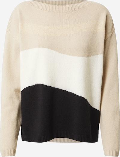 COMMA Pullover i beige / sort / offwhite, Produktvisning