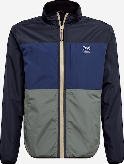 Iriedaily Jacke 'Rechange' in blau / pastellgrün / schwarz / weiß, Produktansicht