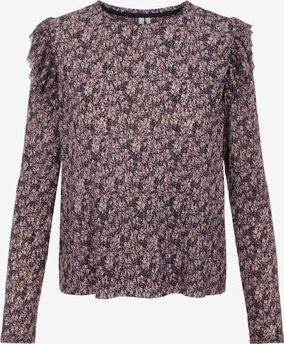 PIECES Bluse 'Gwena' i orkidee / blandingsfarvet / lyserød / sort, Produktvisning