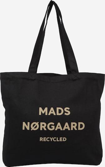 MADS NORGAARD COPENHAGEN Cabas 'Athene' en nude / noir, Vue avec produit