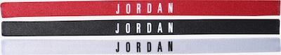 NIKE Accessoires Sportstirnband  'Jordan' in rot / schwarz / weiß, Produktansicht