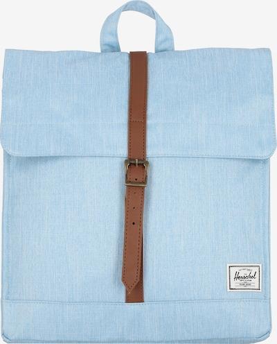 Herschel Sac à dos en bleu clair / marron / blanc, Vue avec produit