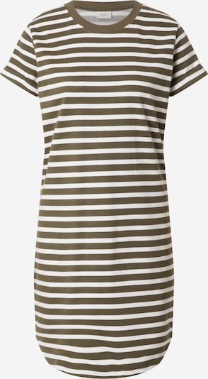 JDY Poletna obleka 'IVY' | oliva / bela barva, Prikaz izdelka