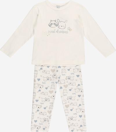 LILIPUT Nachtkledij in de kleur Duifblauw / Grijs / Zwart / Wit, Productweergave